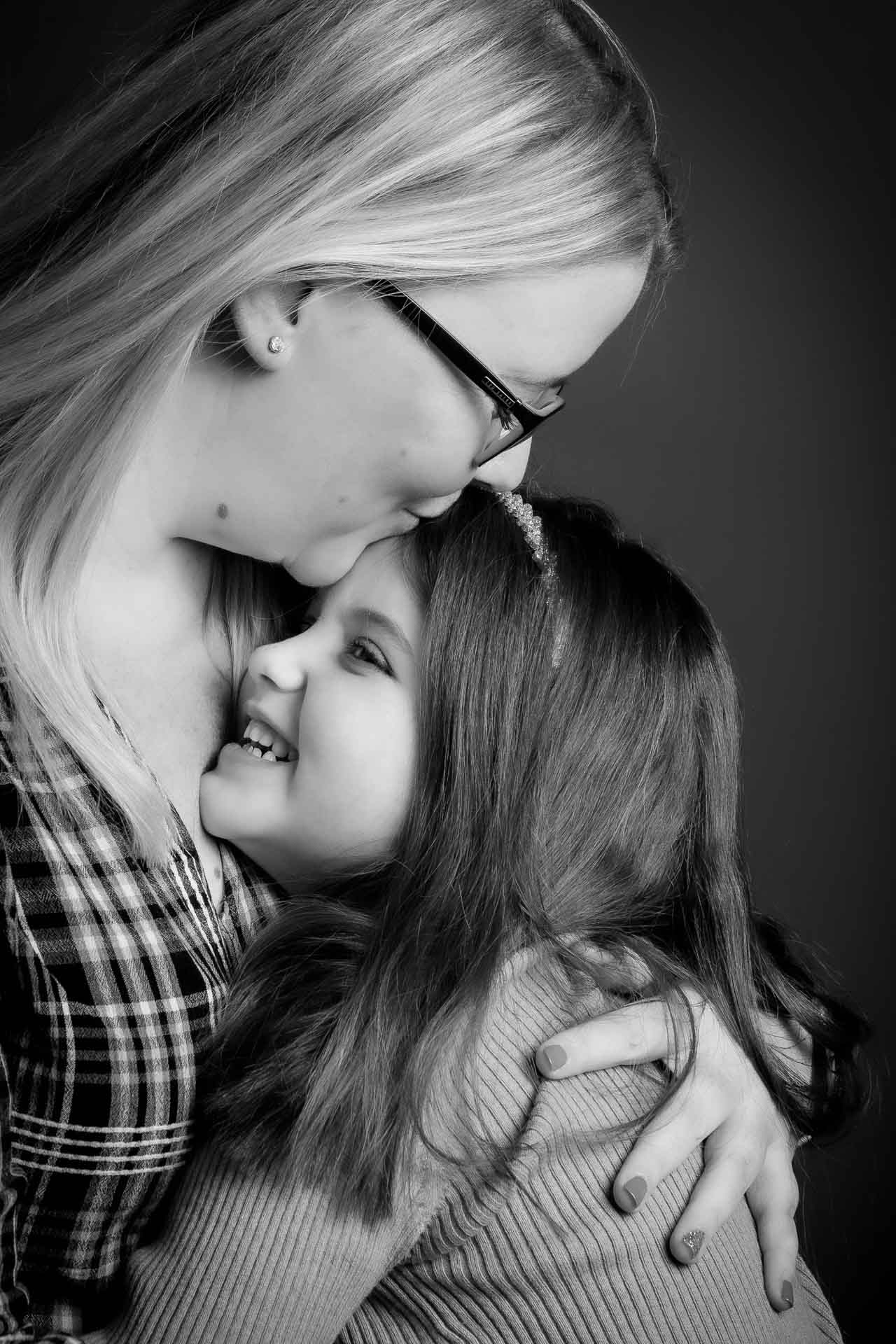 mother and daughter portrait photograph