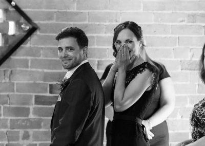 groom seeing bride down the aisle
