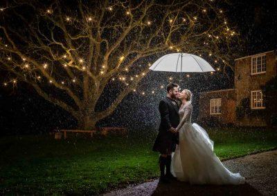 Choosing a wedding photographer using a rain photo