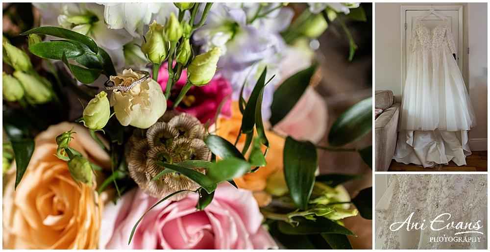 Bridal details for wedding